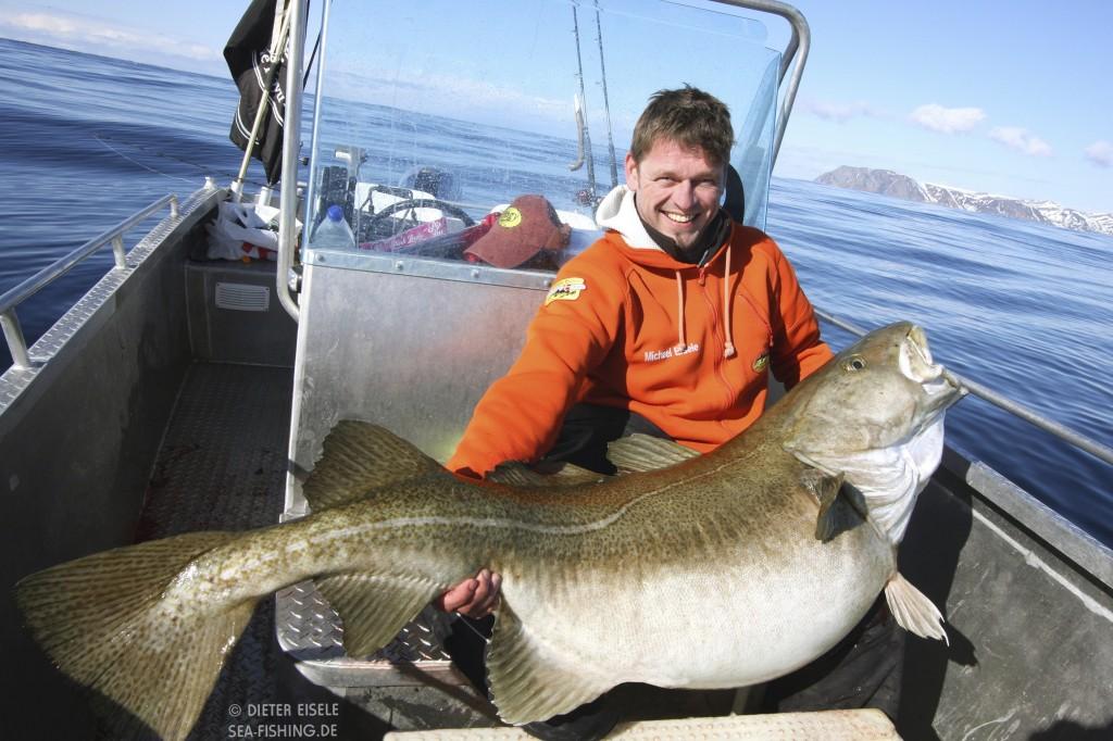 Wereld record kabeljauw 47kg gevangen door onze gast Michael Eisele